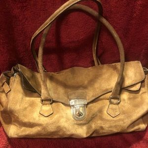 Vintage PRADA  Authentic HAND SHOULDER Brown SUEDE